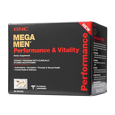 GNC Mega Men Performance & Vitality Dietary Supplement, 30 pk.
