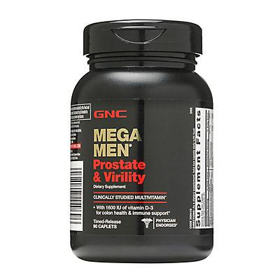 GNC Mega Men Prostate & Virility Dietary Supplement, 2 pk/90 ct.