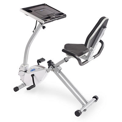 Stamina 2-in-1 Recumbent Cycling Workstation and Standing Desk