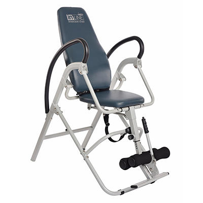 Stamina Seated Inversion Chair - Silver/Blue