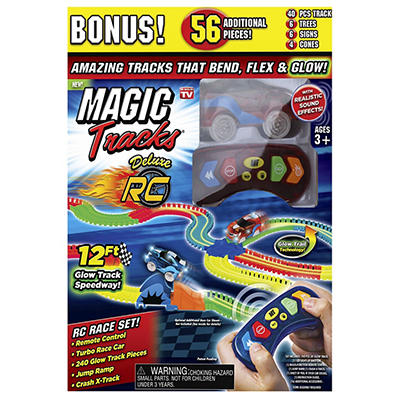 Magic Tracks Crash Glow-in-the-Dark Race Track