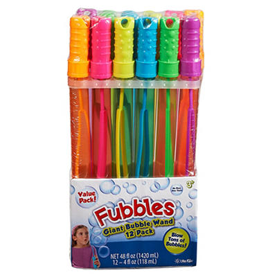 Fubbles Giant Bubble Wand, 12 pk.