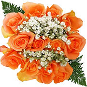 Rose Bouquets, 120 Stems - Orange