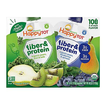 Happy Tot Fiber & Protein Pouches, 10 pk./4 oz.