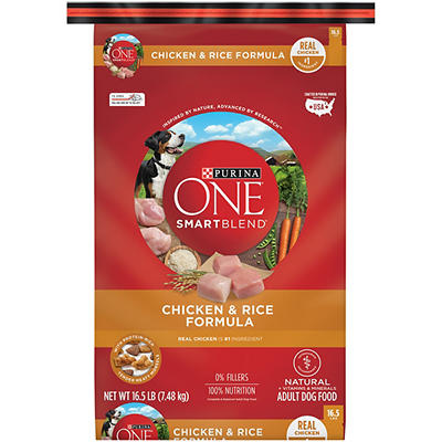 Purina One Smartblend Chicken and Rice Formula Adult Dog Food, 16.5 lb
