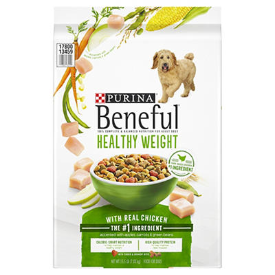 Purina Beneful Healthy Weight with Real Chicken Adult Dry Dog Food, 15