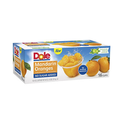 Dole No Sugar Added Mandarin Oranges, 16 pk.