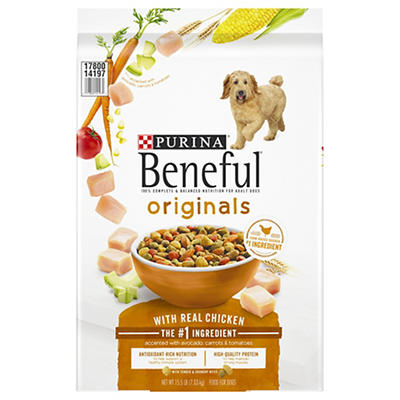 Purina Beneful Adult Dog Food With Real Chicken, 15.5 lbs.