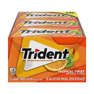 Trident Tropical Twist Sugar-Free Gum, 15 pk./14 ct.