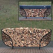 Shelter-It 8' Double Leaf Round Firewood Storage Crib