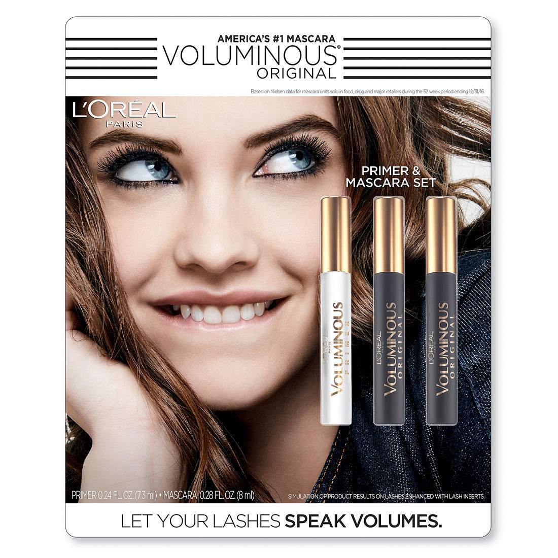 99554b9451b L'Oreal Paris Voluminous Original Primer and Mascara Set, 3 ct ...