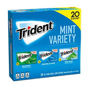 Trident Mint Sugar-Free Gum Variety Pack, 20 pk./14 ct.