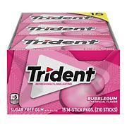 Trident Bubblegum Sugar-Free Gum, 15 pk./14 ct.