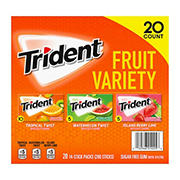 Trident Fruit Sugar-Free Gum Variety Pack, 20 pk./14 ct.