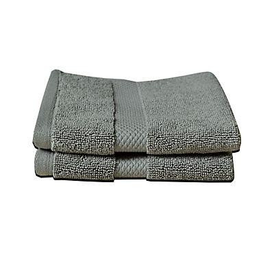 Berkley Jensen Washcloth, 2 pk. - Charcoal