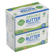 Wellsley Farms Organic Unsalted Butter, 2 pk./1 lb.