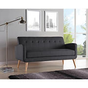 Handy Living Linen Sofa - Charcoal