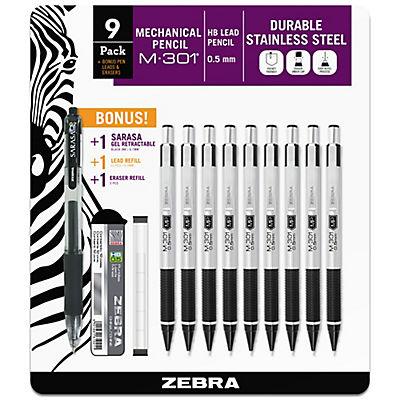 Zebra Steel Mechanical Pencil, 9 ct. - Black