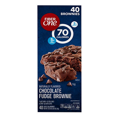 Fiber One Chocolate Fudge Brownie, 40 ct./0.89 oz.