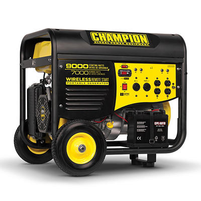 Champion 9,000W Peak/7,000W Rated Remote-Start Gas-Powered Portable Ge