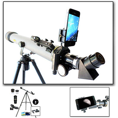 Cassini 800mm x 60mm Day/Night Telescope with Smartphone Adapter