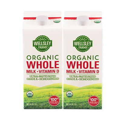 Wellsley Farms Organic Whole Milk, 2 pk./64 fl. oz.