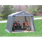 Shelter-It 10' x 16' Steel/Fabric Instant Garage - Gray/White