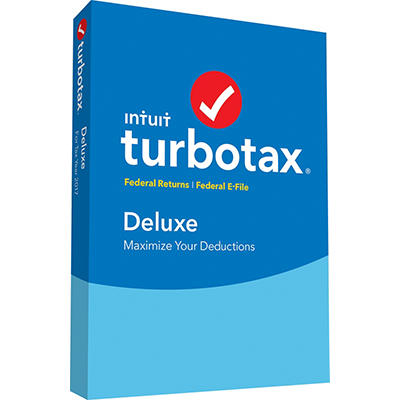TurboTax Deluxe Federal Returns with Federal E-File 2017