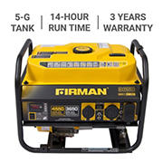 Firman 4,550W Peak/3,650W Rated Gas-Powered Generator
