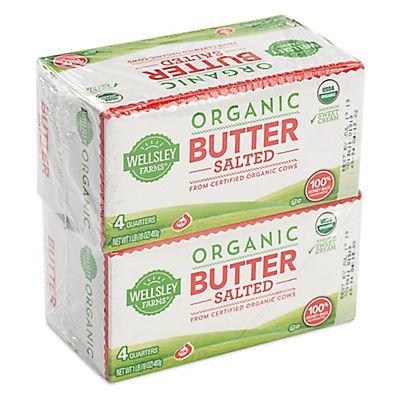 Wellsley Farms Organic Salted Butter, 2 pk./1 lb.