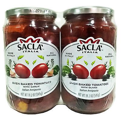 Sacla Italia Oven-Baked Tomatoes Variety Pack, 2 pk./19.2 oz.
