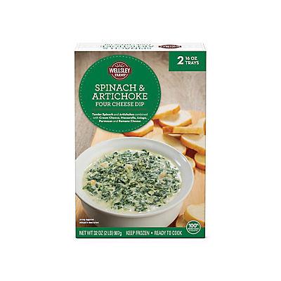 Wellsley Farms Spinach and Artichoke Four Cheese Dip, 2 pk./16 oz.