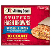 Jimmy Dean Sausage and Bacon Stuffed Hash Browns, 10 ct.