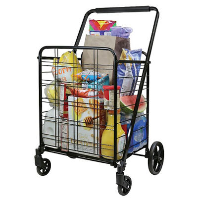 Deluxe Shopping Cart - Black