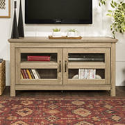 "W. Trends 44"" Wood TV Stand Storage Console for TVs Up to 48"" - Driftwood"
