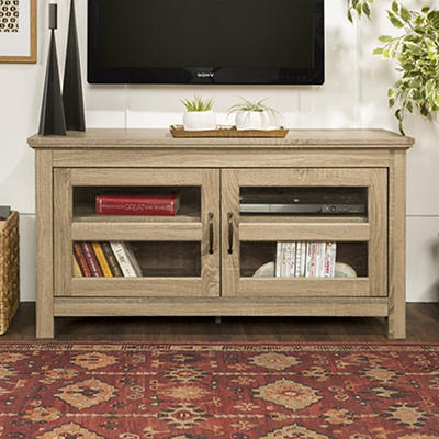 "W. Trends 44"" Wood TV Stand Storage Console for TVs Up to 48"" - Driftw"