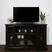 "W. Trends 52"" Traditional Glass Door TV Stand for Most TV's up to 58"" - Espresso"