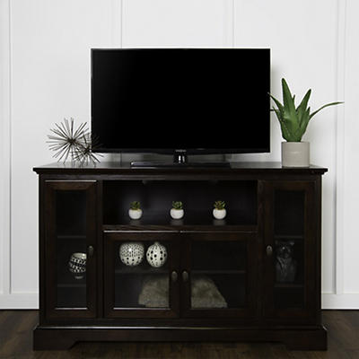 "W. Trends Highboy 52"" Wood TV Media Stand with Storage for TVs Up to 5"