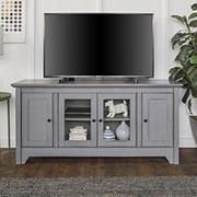 "W. Trends 52"" Traditional Storage TV Stand for Most TV's up to 58"" - Aged Gray"