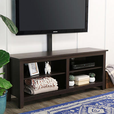 "W. Trends 58"" Wood Media TV Stand Console with Mount - Espresso"