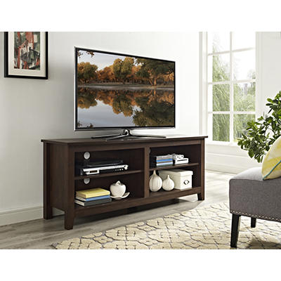 "W. Trends 58"" Wood TV Media Stand - Traditional Brown"