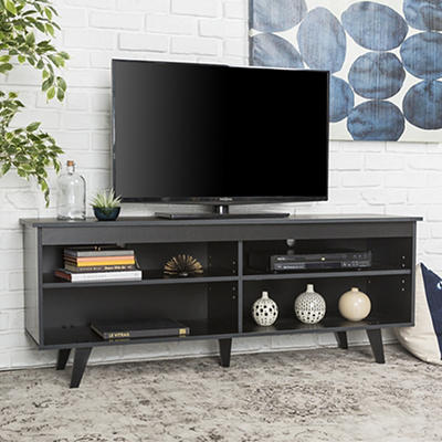 "W. Trends 58"" Simple Contemporary Wood TV Console for TVs Up to 60"" -"