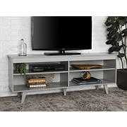 "W. Trends 58"" Modern Open Storage TV Stand for Most TV's up to 65"" - Grey"