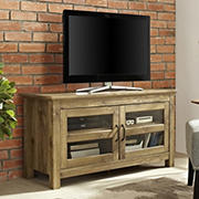 "W. Trends 55"" Rustic 2 Door TV Stand for Most TV's up to 50"" - Barnwood"