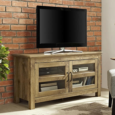 "W. Trends 44"" Wood TV Media Stand for TVs Up to 48"" - Barnwood"