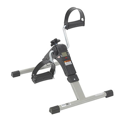Drive Medical Folding Exercise Peddler with Electronic Display - Black