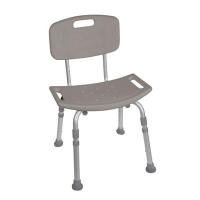 Drive Medical Deluxe K.D. Aluminum Bath Bench with Back