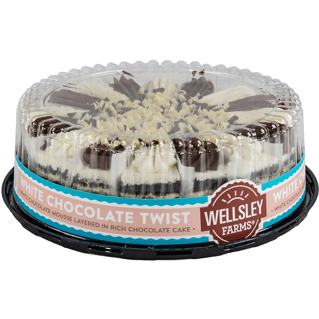 Pleasant Wellsley Farms 10 White Chocolate Twist Cake Bjs Wholesale Club Funny Birthday Cards Online Overcheapnameinfo