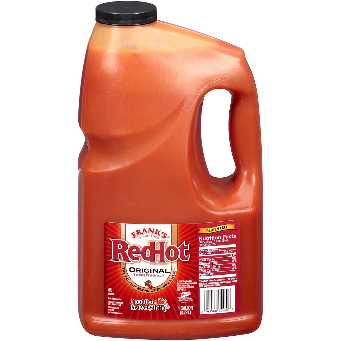 Frank S Redhot Original Cayenne Pepper Sauce 128 Oz