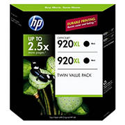 HP 920XL Black Ink Cartridges, 2 pk.
